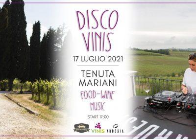 DISCO VINIS – Il Dj Set in Vigna! Sabato 17 Luglio 2021